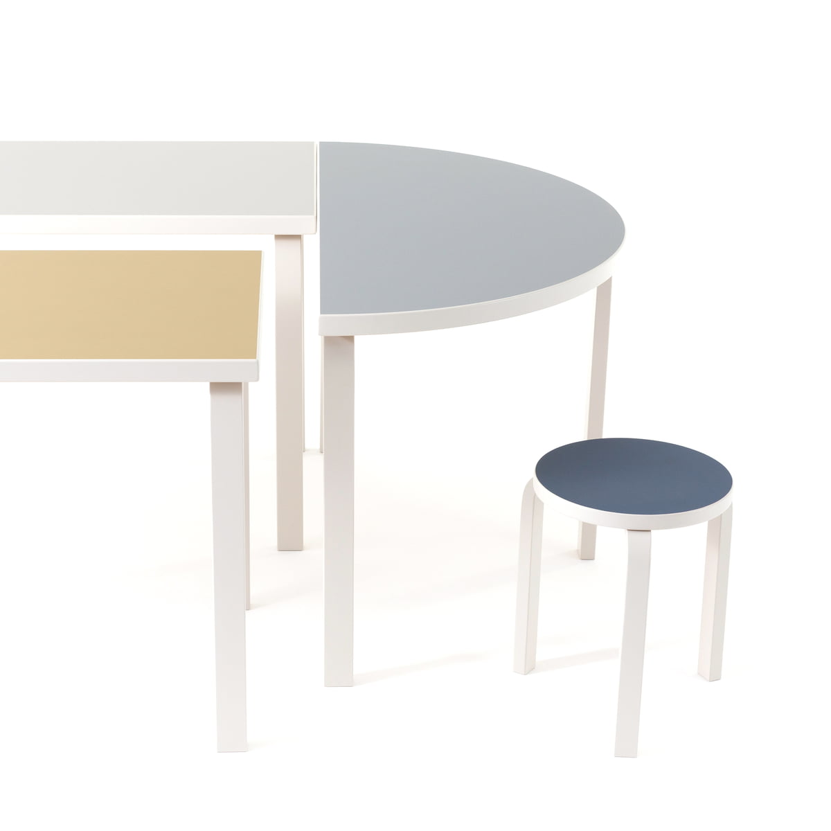 stool  (finland ) by artek  connox - alvar aalto furniture in the finland  special edition