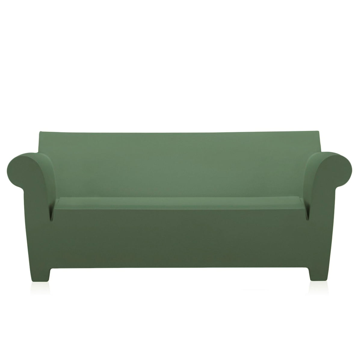 bubble club couch  kartell  shop - kartell  bubble club sofa green