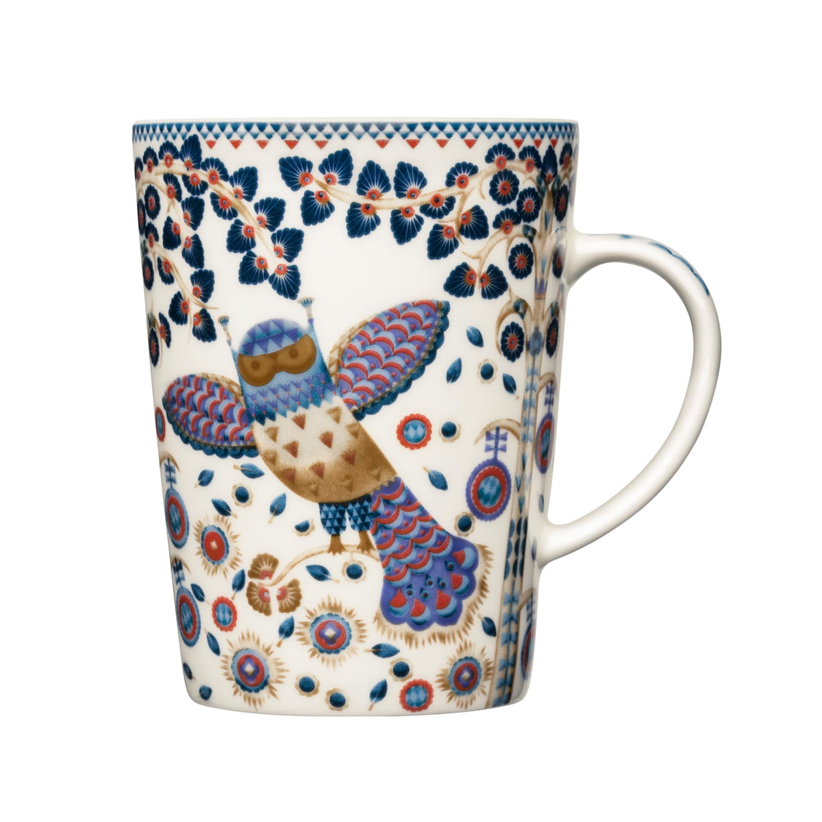 taika mug (anniversary edition) by iittala - taika mug with handle anniversary edition by iittala in white