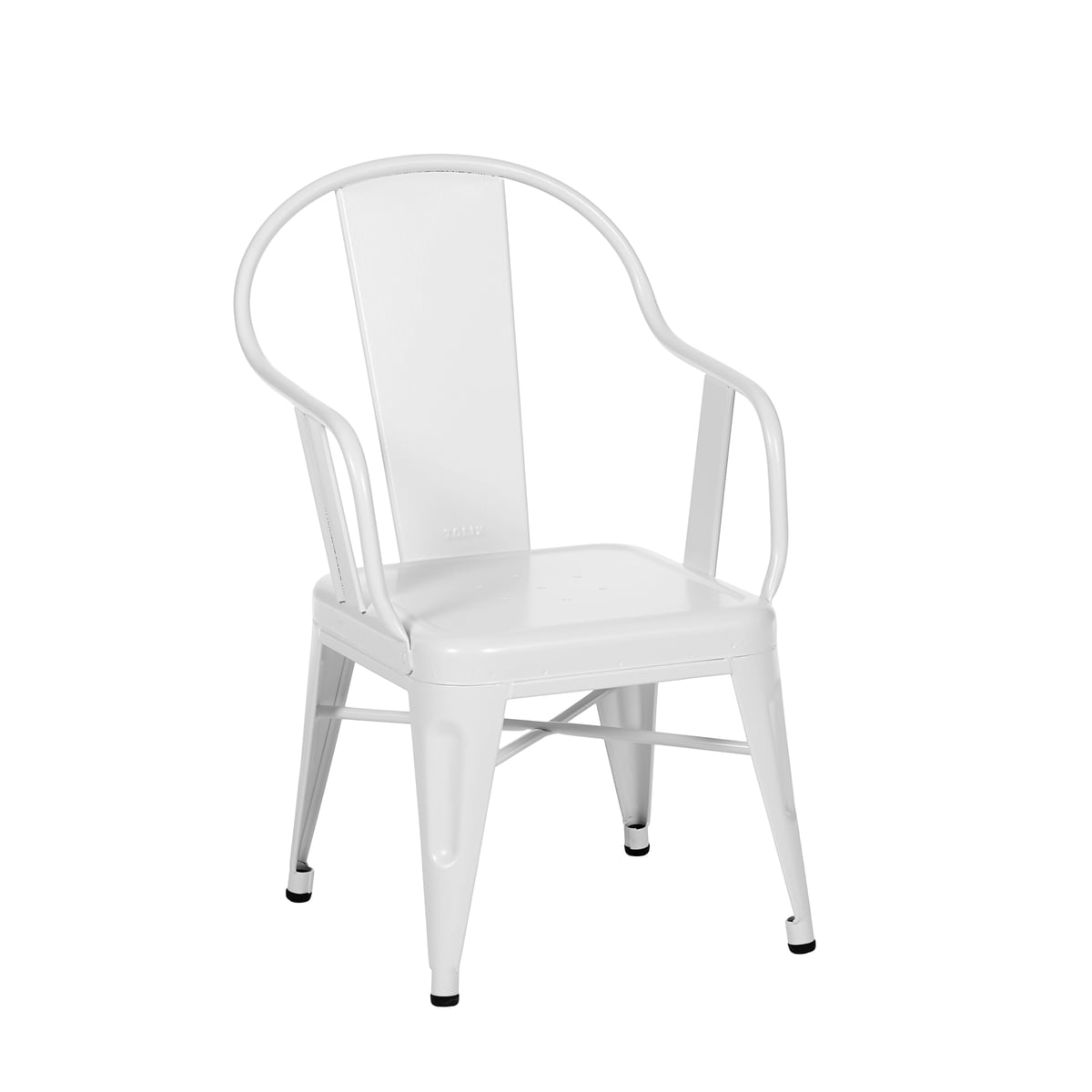 Chair drawing for kids - Seagull Armchair By Tolix In White Matt