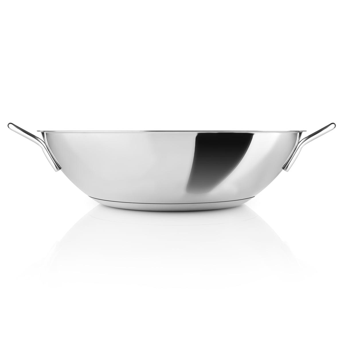 eva trio wok 5 l 32 cm stainless steel