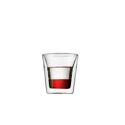 Bodum Canteen, double-walled drinking glass 0.1l