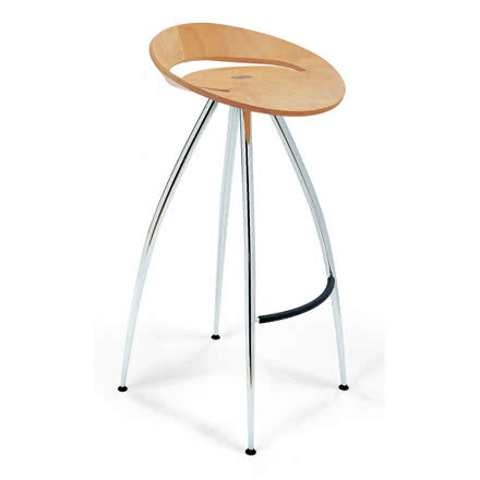 Lyra Bar Stool, Beech wood