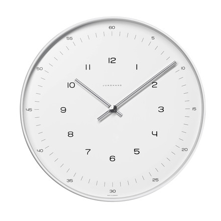 Max Bill Wall Clock, Numbers, Ø 30cm