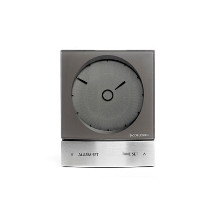 Jacob Jensen - Wake up Clock, anthracite