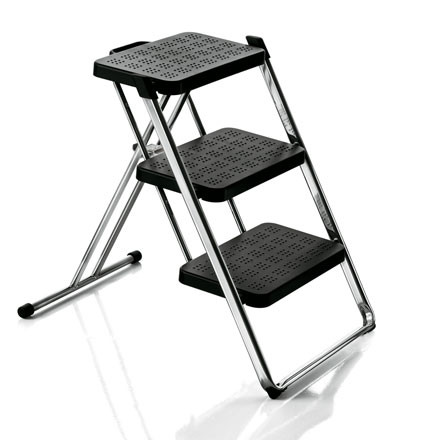 Magis - Nuovastep Stepladder in chrome and black