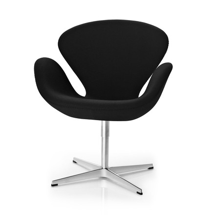 Fritz Hansen - Swan Armchair in black