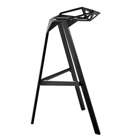 A geometric and comfortable bar stool