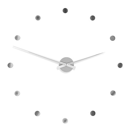 Radius Design - Flexible Clock in silver