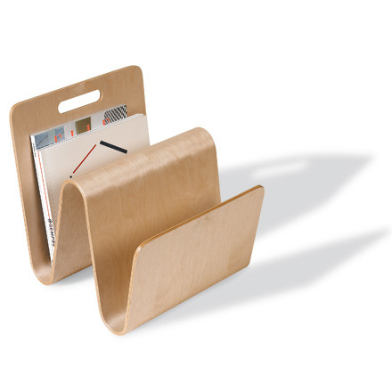 Newspaper rack Mag Stand - birch wood