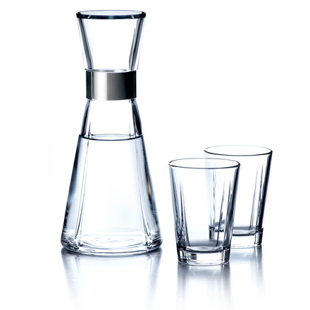 Grand Cru water carafe with 2 water glasses by Rosendahl