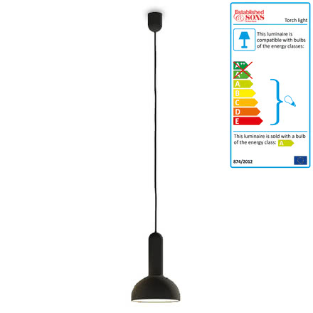 Torch Light, round - small, black