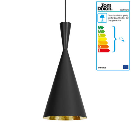 Tom Dixon - Beat Light Tall pendant lamp in black