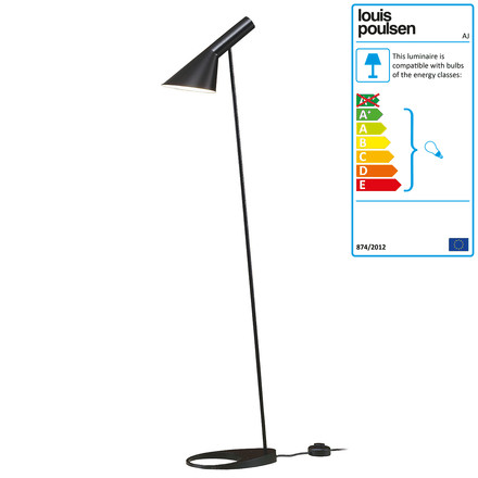 Louis Poulsen - AJ Floor Lamp by Louis Poulsen in black