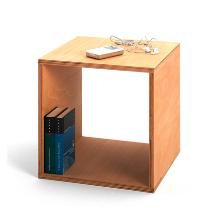The Cube bedside table by Tojo as a shelf