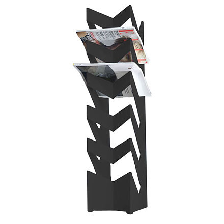 Newspaper Holder news, black