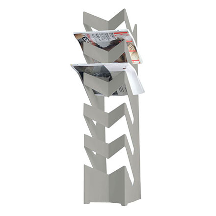 Newspaper Holder news, silver
