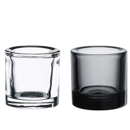 Kivi tea-candle holder, Set of 2 (grey / clear) Special edition! - group image
