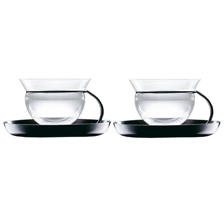 mono filio teacups, set of 2 with saucers