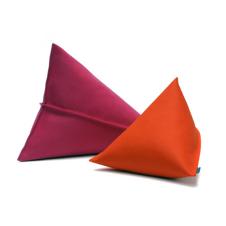 Hey Sign - Lily Felt Pillows, duo in red and orange