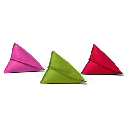 Hey Sign - Lily Felt Pillows, Trio in pink, green and red