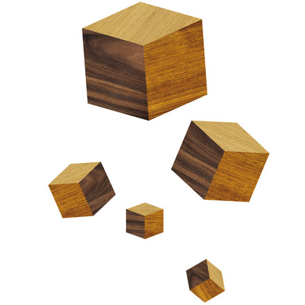 Domestic - Touche du Bois / Cubes Wandsticker