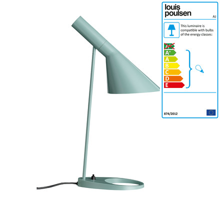 AJ Table lamp, light blue