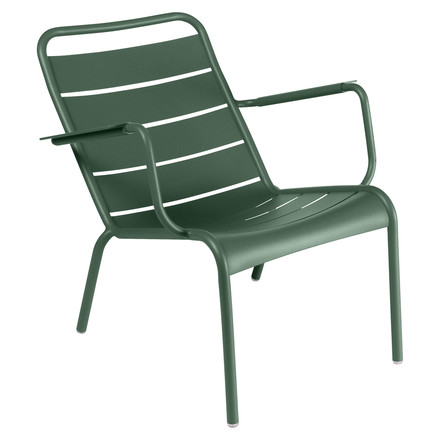 Fermob - Luxembourg Low Armchair, cedar green - single image