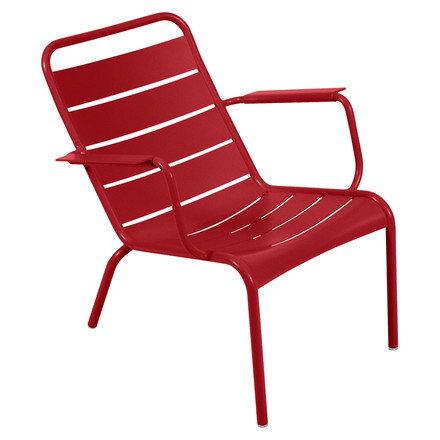 Fermob - Luxembourg Low Armchair, poppy-red - single image