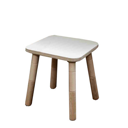 Growing Table - stool, HPL white