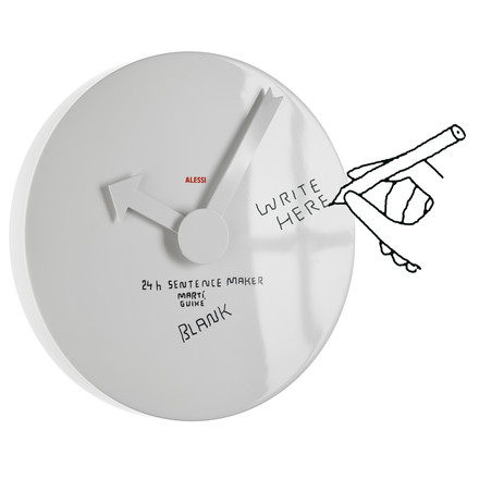 Function of the Alessi - blank wall clock