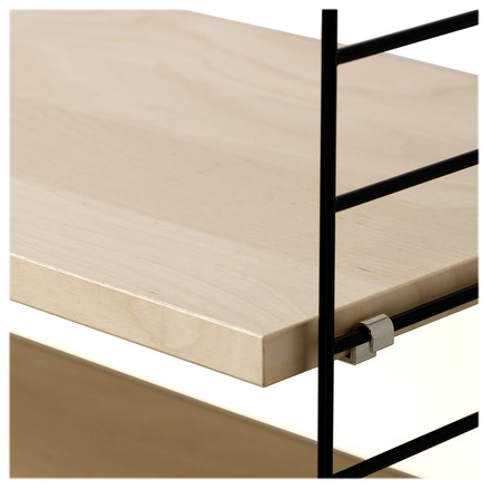 String Shelf System, Birch / black