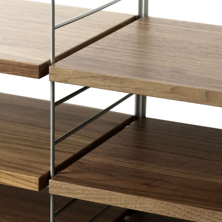 String Shelf System, Walnut