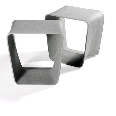 Eternit - Ecal stool, duo in grey