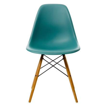 Vitra - Eames Plastic Side Chair DSW, ocean, front
