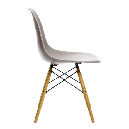 Vitra - Eames Plastic Side Chair DSR, grey, side view