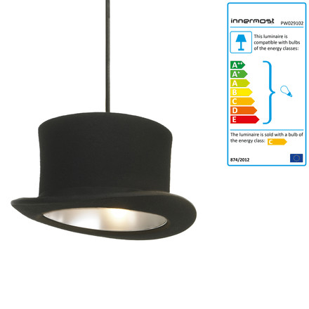 Innermost - Wooster pendant lamp in black