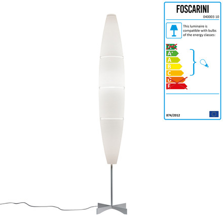 Havana floor lamp, white