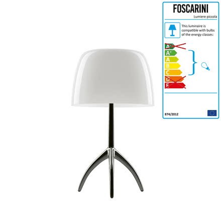 Foscarini - Lumiere 05 piccola Table Lamp G9, aluminium / white