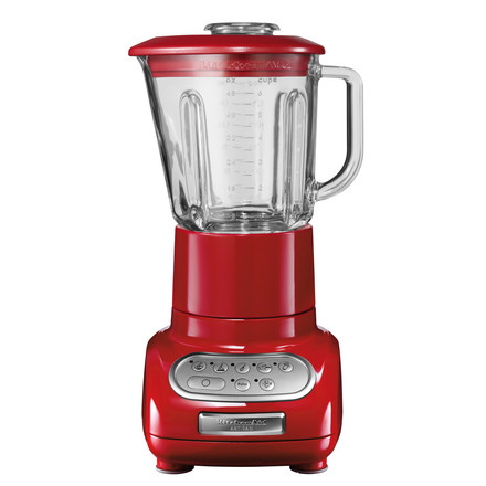 Kitchen Aid - Artisan blender with glass container, red