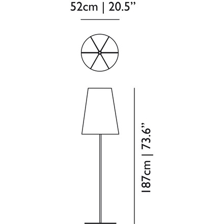 Moooi - Light Shade Shade Floor Lamp - Dimensions