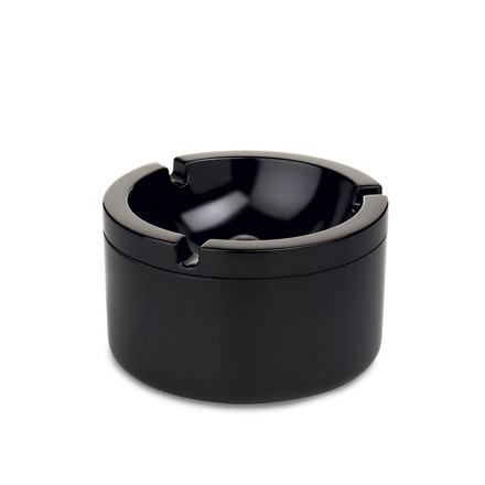 Ashtray with lid, black