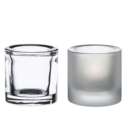 Iittala - Kivi Votive Candle Holder, set of 2 (clear / matt) special edition!
