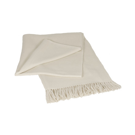 Elvang - Luxury blanket, cream white
