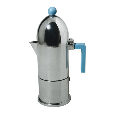 A di Alessi - La Cupola Espresso Machine A9095, 15 cl, light blue