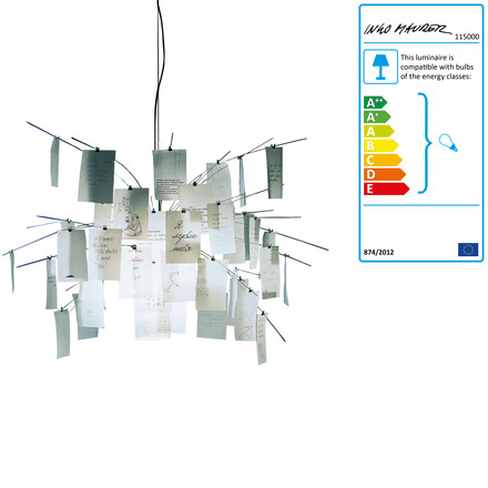 Ingo Maurer - Zettel'z 5 Pendant Lamp, single image