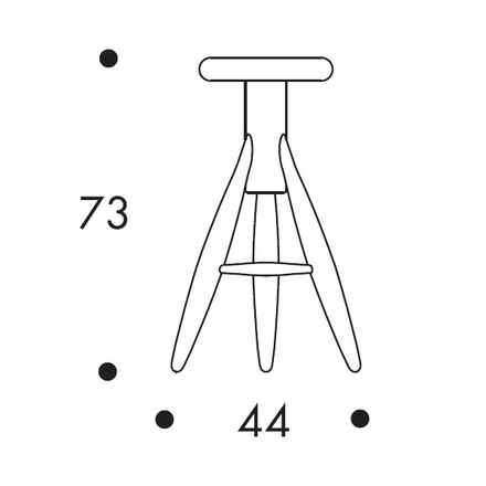 Artek - Rocket Stool Dimensions
