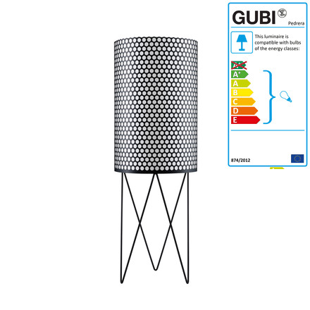 Gubi - Pedrera floor lamp PD2, black, single image