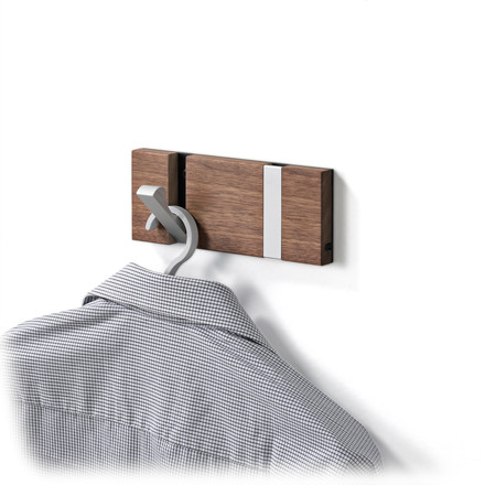 LoCa - Knax 2 hook cloak rail, cherry