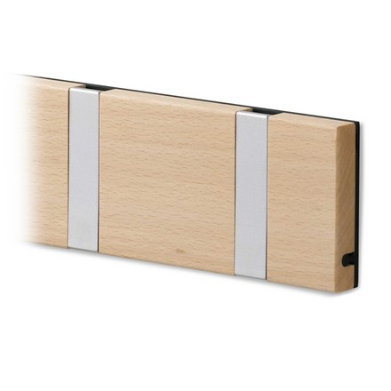 LoCa - Knax cloak rail, maple lacquered